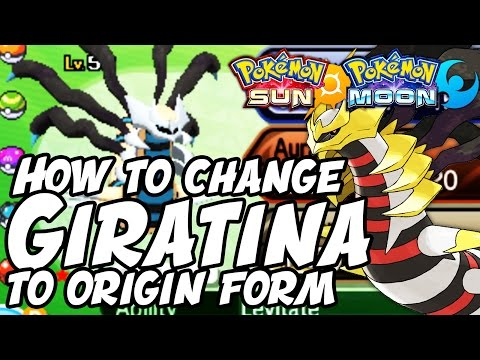 How to Change Giratina to ORIGIN FORM in Pokemon Sun and Moon - How to Get Giratina Origin Form