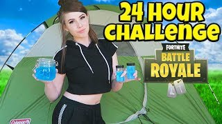 Download 24 HOUR FORTNITE CHALLENGE IN REAL LIFE! Video