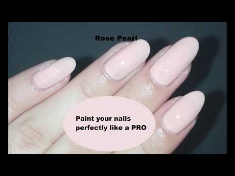 Nail 101- Paint your Nails Perfectly like a PRO | Rose Pearl