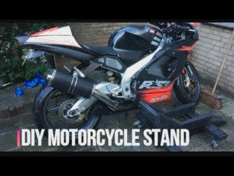 DIY Motorcycle Stand in under 3 minutes / Wooden stand with wheels