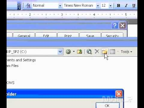 Microsoft Office Word 2003 Specify a location for automatically recovered files