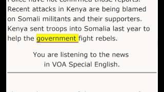 VOA - News in Special English - 19 Nov 2012