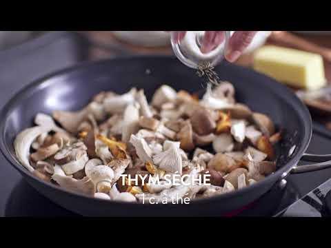 Steak aux champignons   Calendrier du lait 2018
