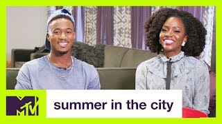 Download Jessie T. Usher and Teyonah Parris Play #TRUTHORDARE | Summer in the City | MTV Video