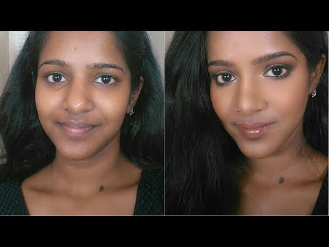 Hallow Eyes with Nude Lips-Makeup for dark Indian Skin Tone