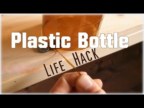 DIY Plastic Bottle Cutter- Strings out of plastic bottles - Lifehack *Upcycling*