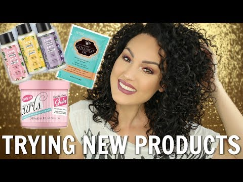Testing Out NEW Curly Hair Products   THE GLAM BELLE