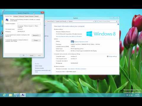 Windows 8 - How to Change the Computer Name
