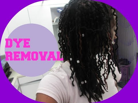 How I remove dye from dreads!