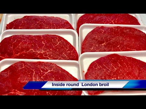 Beef top round London broil - mejor carne de res - bistec pulpa negra - los mejores cortes de carne