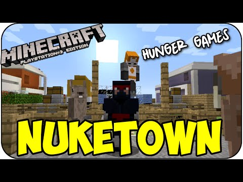 MineCraft PS3 HUNGER GAMES NUKETOWN COD MAP - Playstation 3 Edition Multiplayer Mini Game TU25