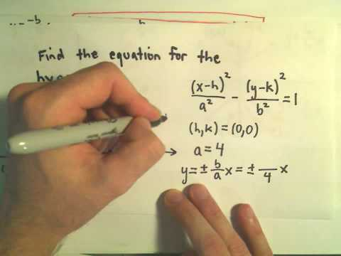 Finding the Equation for a Hyperbola Given the Graph - Example 1