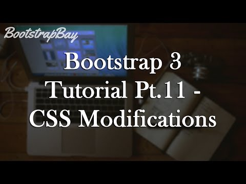 Bootstrap 3 Tutorial Pt.11 - CSS Modifications to Navbar and Buttons
