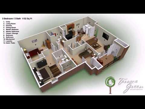3 Bedroom 2 Bath Floor Plans Houses