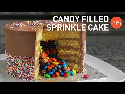 Easy Cake Decorating Ideas (Candy-Filled Sprinkle Cake) | Cake Decorating Tutorial