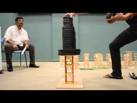 Popsicle Stick Tower Strength Test Part 1