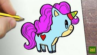 Como Dibujar Un Unicornio Kawaii Paso A Paso Dibujos Kawaii