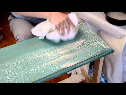 Adding A Chalk Paint Wash Over Wax