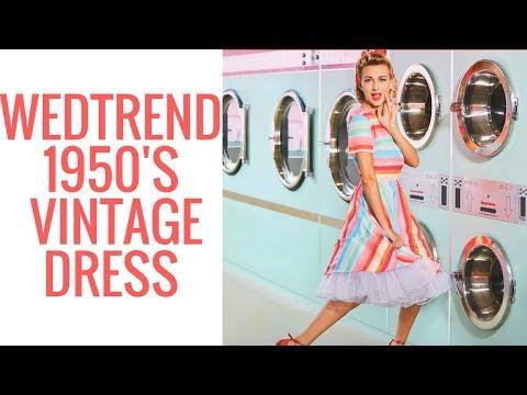 Wedtrend 1950's -1960's Vintage Dress - Kara
