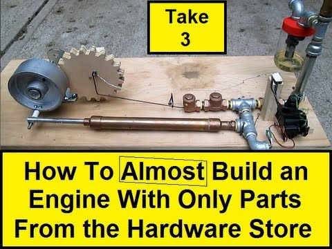 How To Almost Build an Engine With Only Parts from the Hardware Store 3 (HowToLou.com)