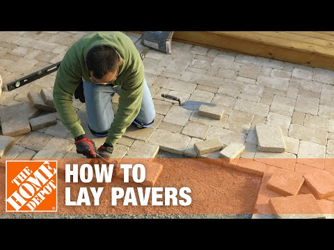 How To Lay Pavers - The Home Depot