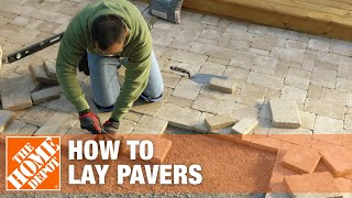 How To Lay Pavers The Home Depot