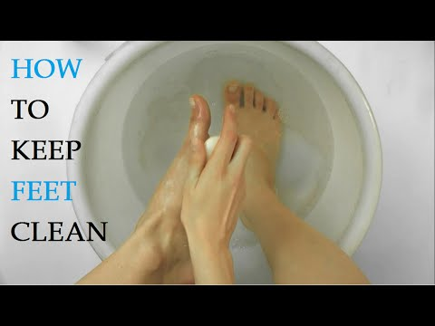How to Keep Feet Clean