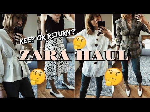 BIG Spring/Summer Zara Unboxing Try-On Haul | May 2018
