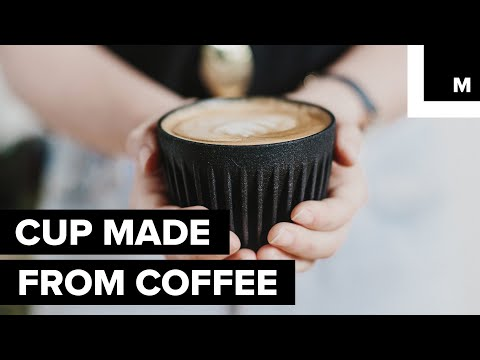 Cup made from coffee