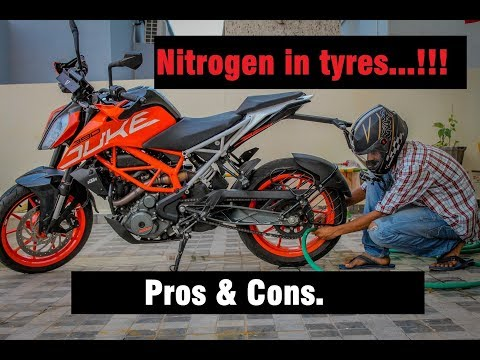 Is it necessary to fill Nitrogen in Motorcycle Tyres || 2017 Duke 390