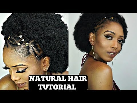 How To Cornrow & Kinky Crochet Braids Tutorial On Short Natural Hair