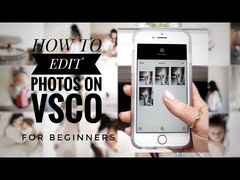 How to edit photos on VSCO for INSTAGRAM   VSCO for BEGINNERS   Sep 2017