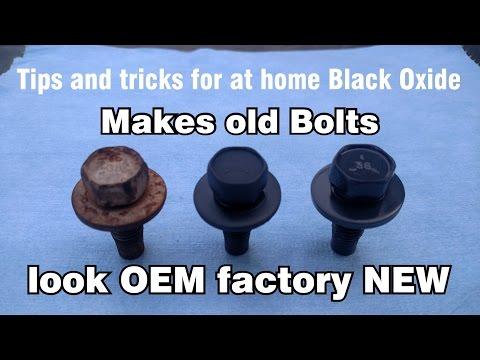 DIY at home original Black Oxide Phosphate OEM Restoration of nuts & bolts
