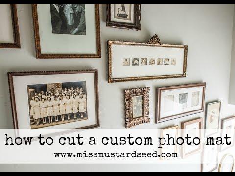 how to custom mat a photo