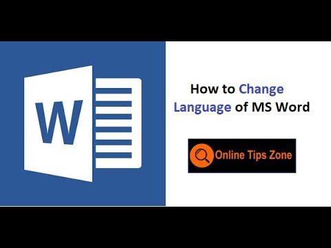 How to change Language in Word