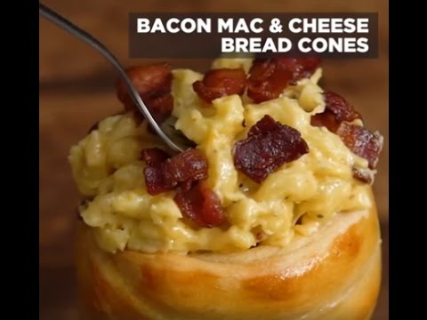 Bacon Mac & Cheese Bread Cone