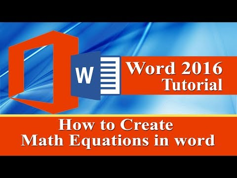 Creating mathematical equations and expressions in ms word