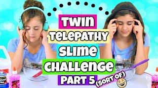 Twin Telepathy Slime Challenge Part 5! Rachel vs Julia!
