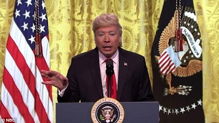 Fallon, Colbert MOCK Trump After SOLO Press Conference | What