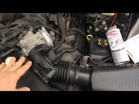 Engine light code P0171 and P0174 (Mass air flow sensor cleaning)