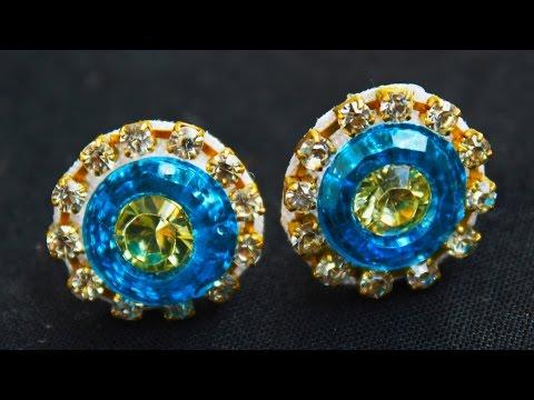 Earrings Stud | Stud Earrings Tutorial | Earring Making for Girls | pearls jewellery