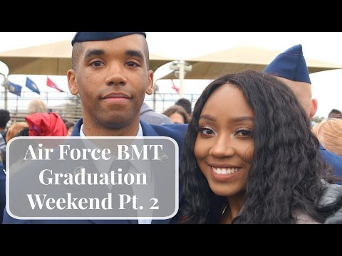 Air Force BMT Grad Weekend | Pt 2 - Parade, Town Pass, & Goodbye!!