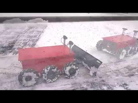 DIY Robot Snow Plow Clean My Drive Way In 5 Minutes
