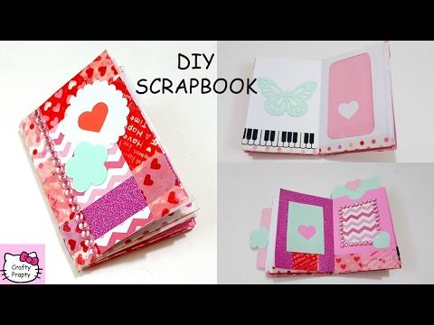 DIY Scrapbook Tutorial/How to make Art journal/Diy mini Scrapbook/Diy mini Notebook/valentines day