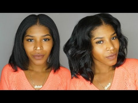 Quick Effortless Waves For Short Hair + Krshairgroup clip ins