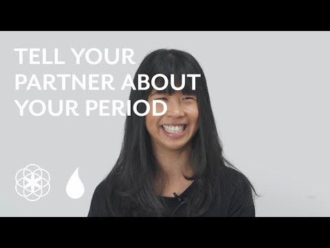 Telling your partner about your period