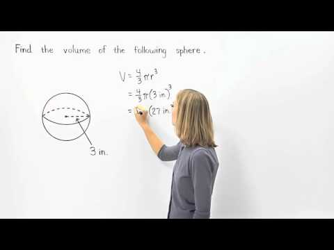 Volume of a Sphere | MathHelp.com