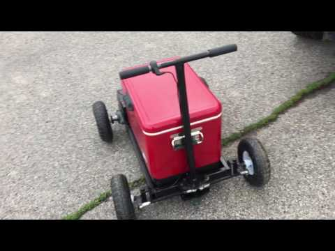 Homemade electric cooler kart gocooler gokart crazycooler