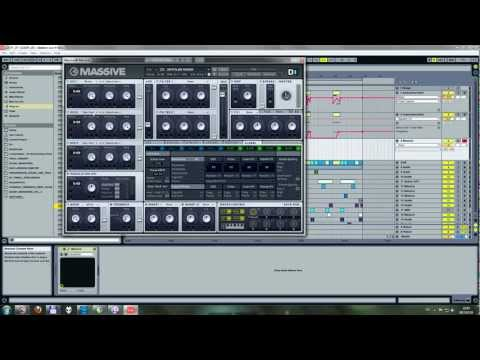 Skrillex growl in fm synth and Massive, part 01
