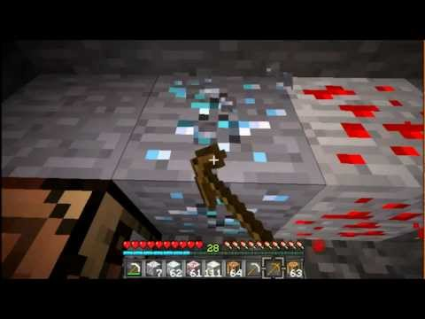How To Mine And Get Gold, Redstone And Diamond!